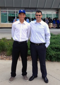Royals prospect Marten Gasparini and Nick Leto