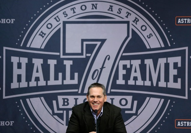 Astros #7 Italian American Craig Biggio was inducted into the National Baseball Hall of Fame on July 26, 2015.