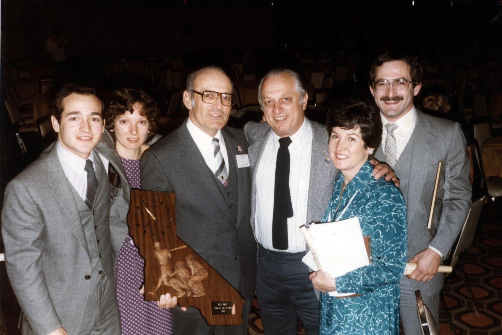Bill Arce and Tommy Lasorda