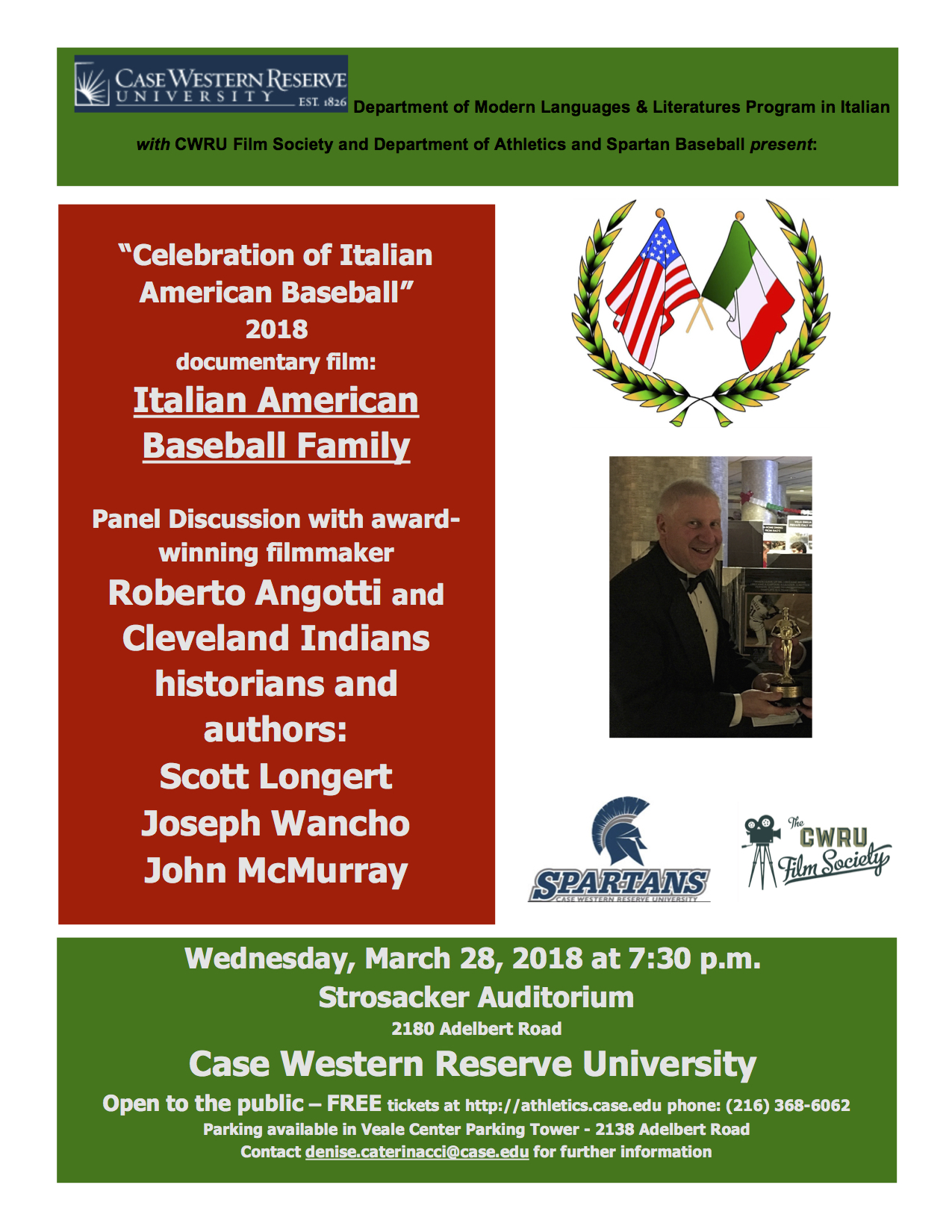 ITALIAN AMERICAN BASEBALL FAMILY Flyer Mar '18